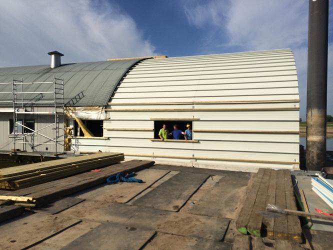 Renovatie botenhuis - Uitbreiding hal ...